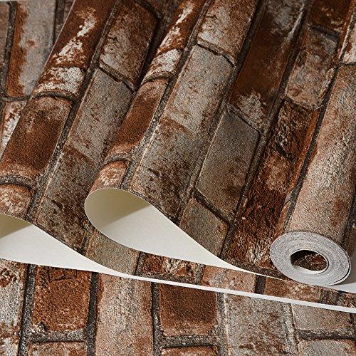 Linie Geschlossene Regale (JSLCR 3D Simulation Backstein Muster chinesische Tapete Restaurant Retrotapeten Hintergründe von ziegelrot Backstein-Tapeten,801-4)
