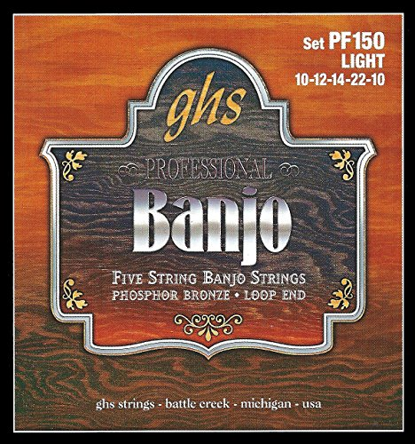 GHS PF150 5-string Banjo Saiten, Bronze, Light, 10-10