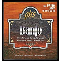 GHS PF 150 Banjo L Fósforo Bronce 5-cuerdas (lazo)
