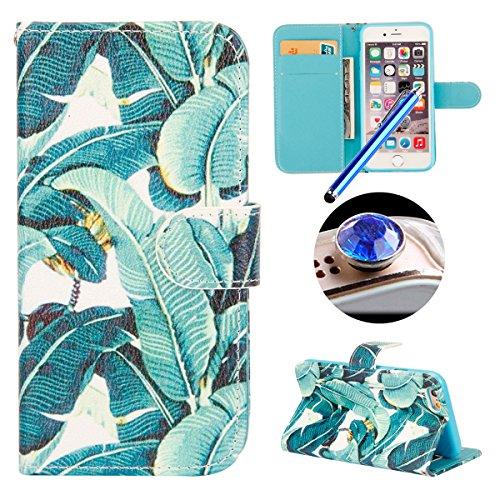 Etsue Case pour iPhone 7 Plus,Premium Folio Cuir Portefeuille Housse pour iPhone 7 Plus,Support Flip PU Leather wallet Case Cover pour iPhone 7 Plus,Slim-Fit Smart de Coque avec Card Holder Etui pour  City