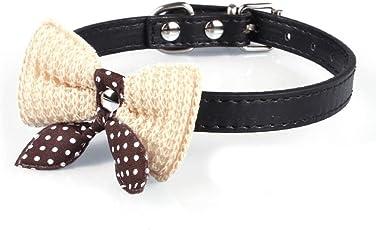 DDLBiz® Collare Regolabile per Pet Animale Cane Bowknot Ecopelle collari