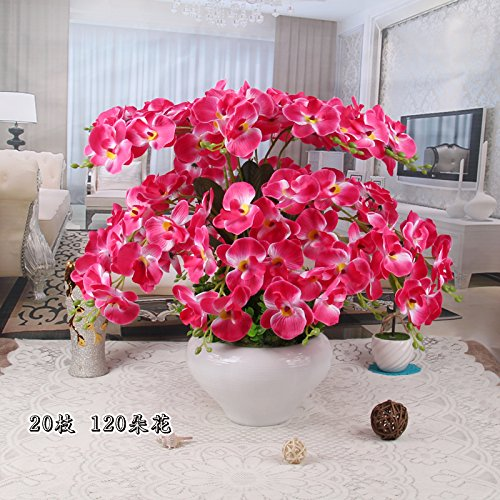 LIXIAOXIN Butterfly Orchid Topfpflanzen Simulation Set False Ornamente Rose Rot