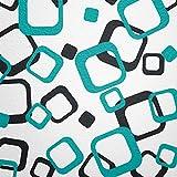 WANDfee Wandtattoo 64 Retro Vierecke mit FARBWUNSCH 2farbig Farbe schwarz türkis