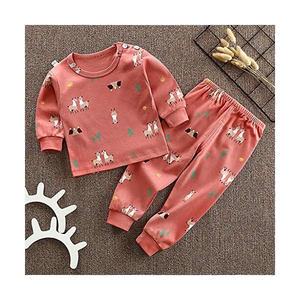 Shenye - Conjunto de Pijama de Manga Larga para niños de 0 a 11 años y Pantalones, Ropa de Ocio 2