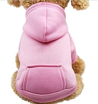 Bluelucon Hundebekleidung Pullover Katzenpullover f/ür Herbst Haustier Hoodie warme Fleece Puppy Coat Bekleidung Warme Hundepullover Sweater Gestrickter Pullover f/ür Kleine Hunde