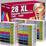 ms-point® 28x kompatible Druckerpatronen für Epson Stylus Photo R200 R210 R220 R300 R300M R310 R320 R340 RX300 RX500 RX600 RX620 RX640