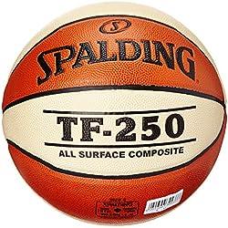 Spalding TF 250 Women SZ.6, (74-584Z) Ballon de Basket Mixte Adulte, Orange/Blanc, 6