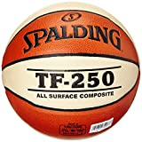 Spalding TF250 IN/OUT SZ.6 (74-584Z) balón de baloncesto int/out, naranja/blanco, 6