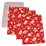 #2: Gurukripa New Born Baby Bed Protector Waterproof Multipurpose Changing Mat Plastic Sheets Baby Changer Sheet Cotton Foam Cushioned Sleeping Mat & Changing Mat Unisex, 0-9 Months, Pack of 1+3 (Red-1)