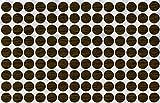 KwikCaps® PVC Nebraska Eiche Grau Selbstklebende 3M Schrauben-Abdeckungen Abdeckkappen Nägel Cam flach [126 Stk. x 13 mm Durchmesser]