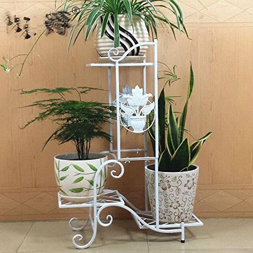 ZH Mehrstöckiges Wohnzimmer im Europäischen Stil Wohnzimmer Balkon Einfachen Boden Grün Leuchtende Orchidee Blume Stehen,B