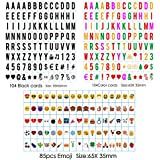 Sanyan 293 Black&color Letters, Numbers, Emoji & Symbols for Use with A4 A3 A5Cinematic Light boxes, Plastic,