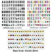 Sanyan 293 letras de color negro, números, emoji y símbolos para su uso con A4 A3 A5 cajas de luz cinemáticas, plástico,