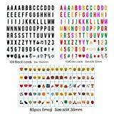 Sanyan 293 Black&color Letters, Numbers, Emoji & Symbols for Use with A4, A3(4lines display) A5(2lines display) Cinematic Light boxes, Plastic,
