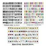 Sanyan Klein-Buchstaben Set A4 Lichtbox - 293 schwarze Plättchen Buchstaben Zahlen Symbole Ergänzungsset - LED Lightbox Leuchtkasten Erweiterung