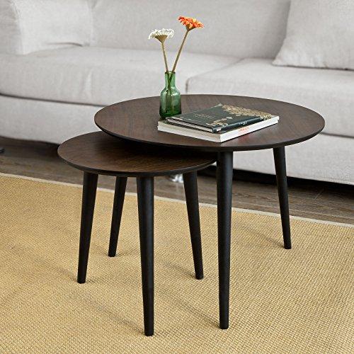 Sobuy set di 2 tavolini da salotto tavolino da caff for Amazon tavoli