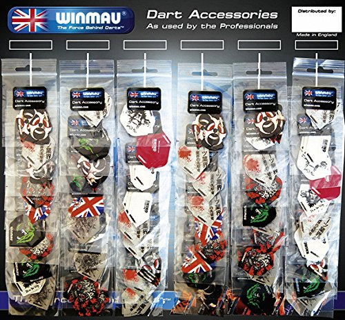 "Dart Fly Winmau \""60 flight card\"" 60 Fly-Sets gemischt"