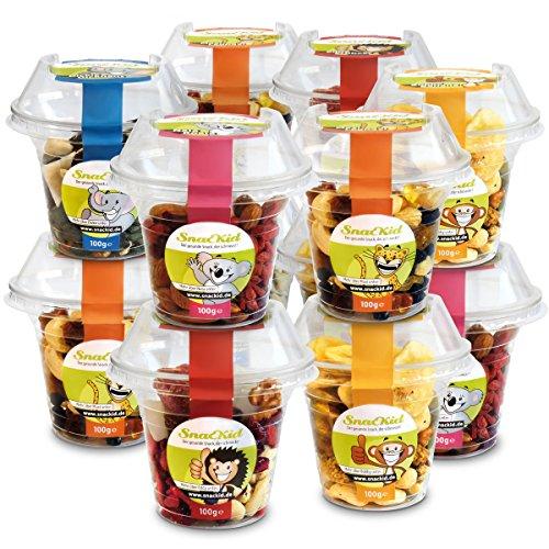 SnacKid 12er Set – Gesunde Snacks für zwischendurch, beim Kindergeburtstag oder im Büro (12 x 100g) (Gesunde Snacks Für Büro)