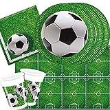 37-teiliges Party-Set Fußball Party - Teller Becher Servietten für 8 Personen