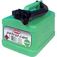 CarPlan TPH005 Tetracan Unleaded 5L Petrol Can 5 Litre Green Cap Oil Spirit Fuel Motor Jerry Transport and Storage Ideal…