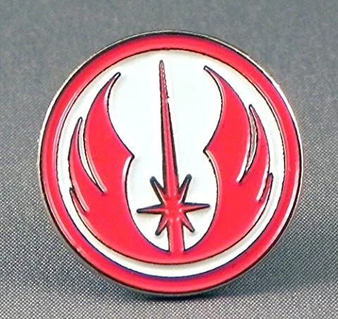 Metal Enamel Pin Badge Brooch Star Wars Order of Jedi Warrior Insignia (Red & White)