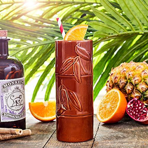 Mug Style bambou Tiki 12.3oz/350 ml – Cocktail Hawaïen En Céramique Tasse