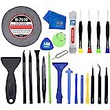 MMOBIEL 24 In 1 Reparatur Werkzeug Tool Kit für Smartphones und Feinmechanik inkl. Klebeband Schraubenzieher Set