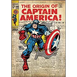 RoomMates RMK1646SLG - Pegatinas de pared, diseño Capitán América Portada Comic
