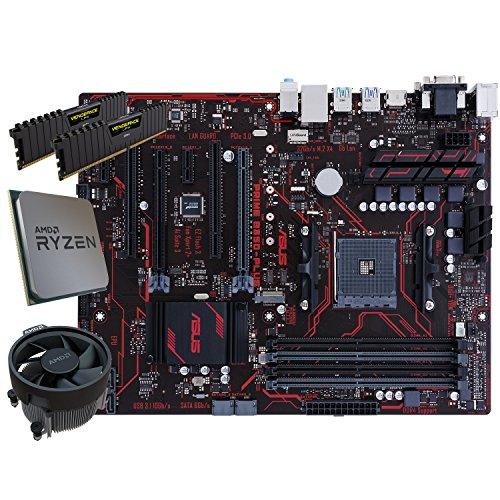 SNOGARD Aufrüstset | AMD RYZEN 7 1700 Prozessor | ASUS PRIME B350-PLUS | 8GB DDR4 RAM / Desktop Computer Mainboard Bundle / Aufrüst Kit / PC Tuning Set