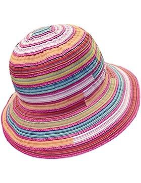 TININNA Donne colorato striscia coneflower Cappelli da sole spiaggia di sabbia Cappello di estivo Protezione Cappello...