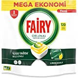 Fairy Dishwasher Detergent Tablets All in One, Lemon, 120 Tablets