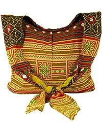 Guru-Shop Sadhu Bag, Schulterbeutel, Hippie Tasche - Rot, Herren/Damen, Baumwolle, 30x42 cm, Bunter Stoffbeutel