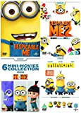 Complete Minions DVD Collection - Despicable Me / Despicable Me 2 / Despicable Me - 6 Mini Movies Collection / Minions - 3 New Mini Movies Collection: Go Back to theBeginning + Bonus Features + Extras