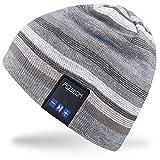 Rotibox Winter Trendy Bluetooth Beanie Hat Cap Braid with Wireless Bluetooth Headphone Headset