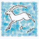 Artland Qualitätsbilder I Wandbilder Selbstklebende Wandfolie 100 x 100 cm Fantasy Mythologie Sternzeichen Malerei Blau A8TR Serie Sternzeichen Steinbock