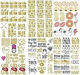ASVP Shop-Tatouages temporaires pour enterrement de vie de jeune fille, de fête, demoiselle d'honneur, rose doré