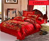 Best FADFAY Beddings - FADFAY Traditional Chinese Style Wedding Bedding Sets Embroidery Review