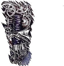 Temporary Tattoo For Girls Men Women 3D Robot Arm Sticker Size 21x15CM - 1PC.