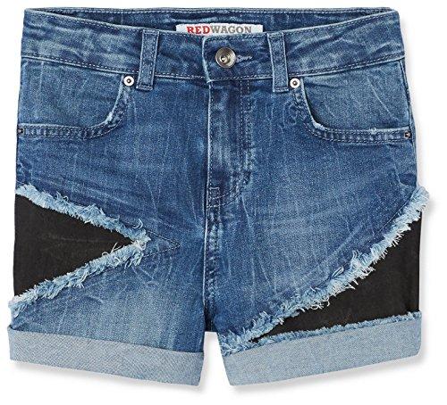 Red wagon shorts in jeans con toppe bambina, blu (blue), 134 (taglia produttore: 9 anni)