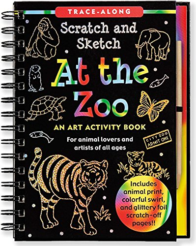 At the Zoo Scratch & Sketch (An Art Activity Book for Animal Lovers and Artists of All Ages) (Trace-Along Scratch and Sketch) by Lee Nemmers (20-Jun-2011) Spiral-bound