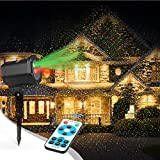 Christmas Projector Lights Outdoor,Garden Light Starry Show Red and Green | with RF