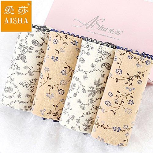 Unterhosen Unterwäsche Bambusfaser Hose Sexy Luft nahtlose Drucken Hip Taillen-slip, C, XL Greatlpk C