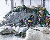 WILD IMMERSION 260x240 cm - SOLDES (visualisez tous nos soldes dans notre boutique Doran Sou Amazon) - Parure de lit pour 2 personnes : Housse de couette 260x240 cm + Taies d'oreiller 65x65 cm