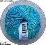 50 gr. Cora-Color Fb. 239 gletscher mel., Brandneu, Strickwolle, Merinowolle, Online, Linie 20