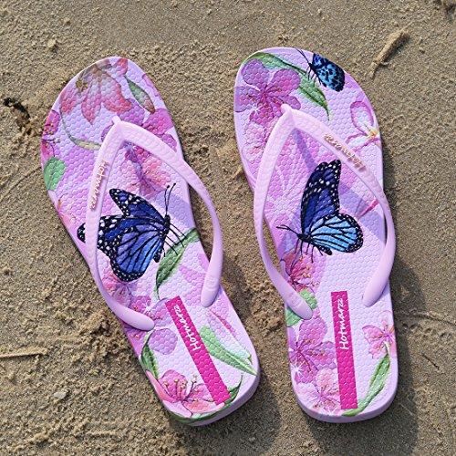 Hotmarzz Infradito Donna Farfalla Fiore Estate Spiaggia Piscina Flip Flops Sandali Rosa