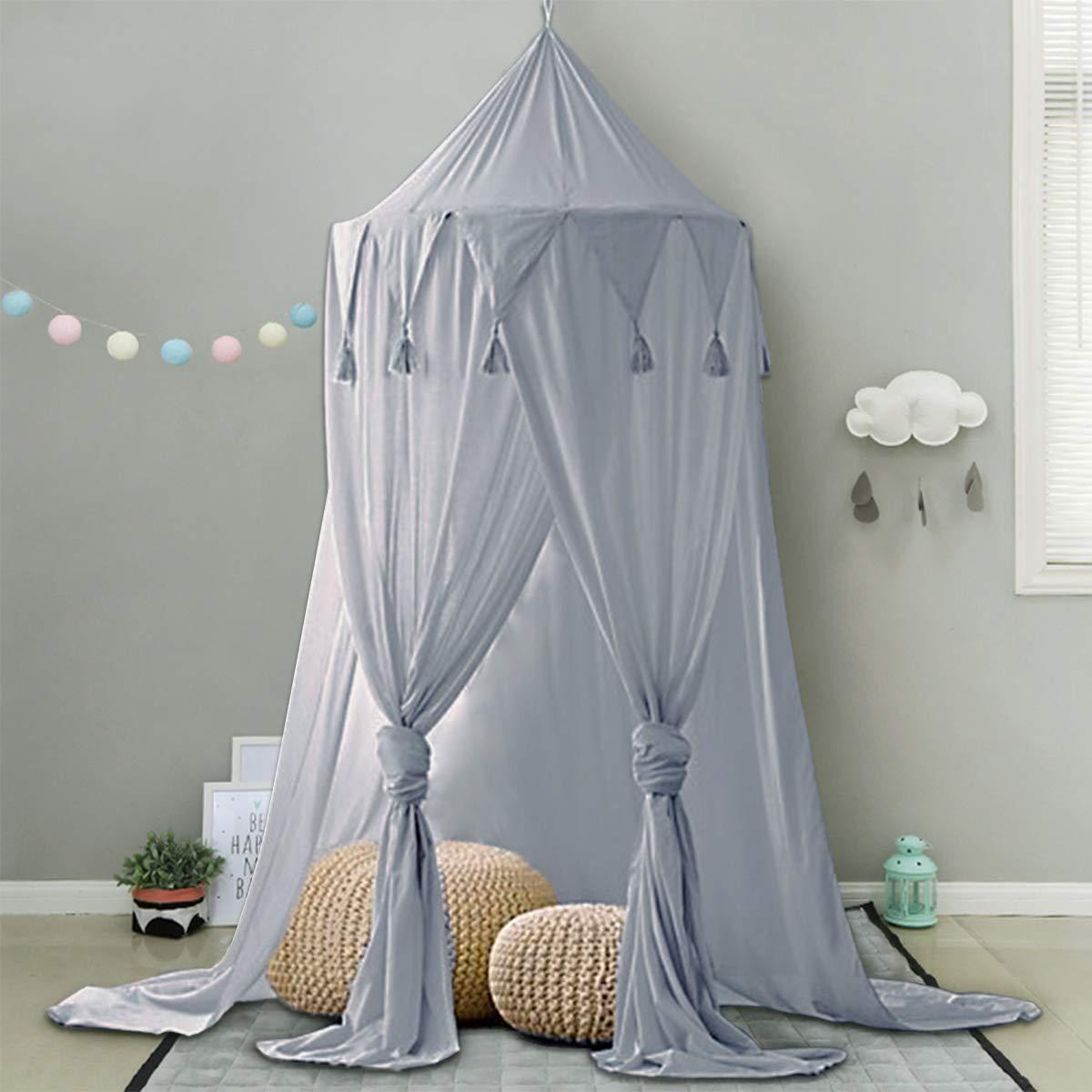 Minetom, baldacchino per lettino di bambini in chiffon alto 240 cm ...