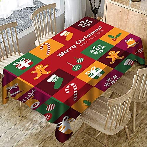 SONGHJ Polyester Tischdecke Halloween Weihnachten Tischdecke rechteckigen Küchentisch Wohnzimmer Couchtisch Hauptdekorationen B 150x300cm -