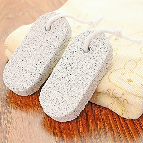 Harte Haut Füße (Semine Natürlicher Bimsstein Lava Pediküre bearbeitet harte Haut Hornhautentferner für Füße und Hände)