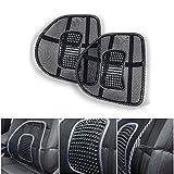 2pz Schienale Ergonomico KT SUPPLY Pad supporto lombare con fascette regolabili per sedie sedile auto e poltrona da ufficio casa, riduce il dolore della sciatica e coccige