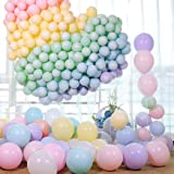 Mumoo Bear 100pcs Pastel Latex Balloons 10 Inches Assorted Macaron Candy Colored Latex Party Balloons for Wedding Graduation